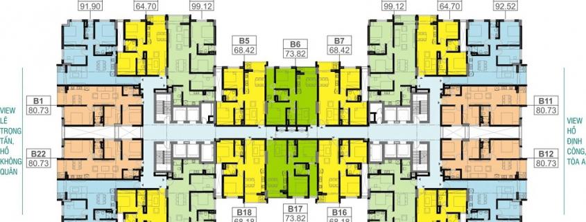 Căn hộ Tòa B - Sky Central 176 Định Công - Chung cư Sky Central